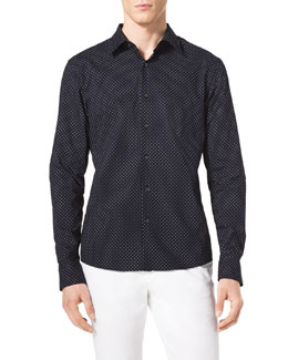 MICHAEL KORS  Pindot Cotton Shirt