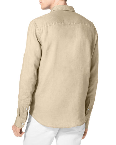 Linen Two-Pocket Shirt