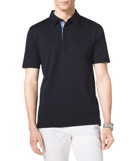 MICHAEL KORS  Check-Trim Polo