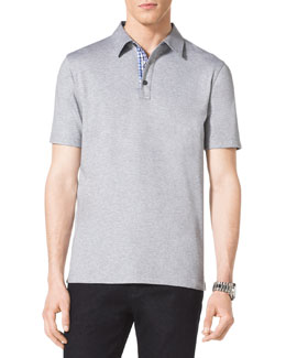 MICHAEL KORS  Heathered Polo Shirt