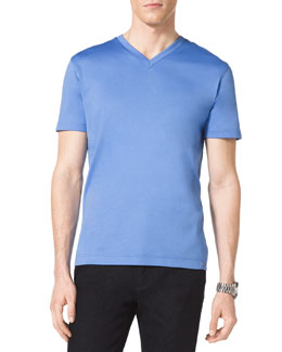 MICHAEL KORS  V-Neck Cotton T-Shirt
