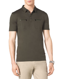 MICHAEL KORS Zip-Pocket Polo