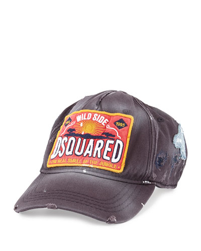 Dsquared2 Worn-In Logo Baseball Hat, Navy