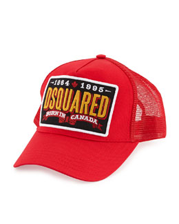 Dsquared2 Logo Mesh Baseball Cap, Red