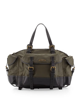 Dsquared2 Men's Multi-Pocket Coated Duffel Bag, Green