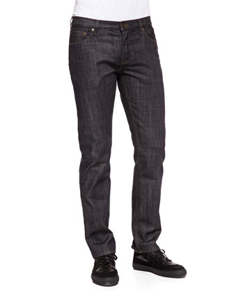 Steadman Resin-Coated Slim-Fit Jeans