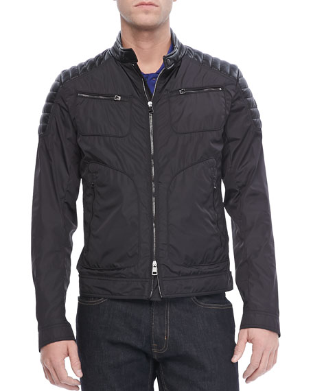 Salomon Nylon Moto Jacket, Black
