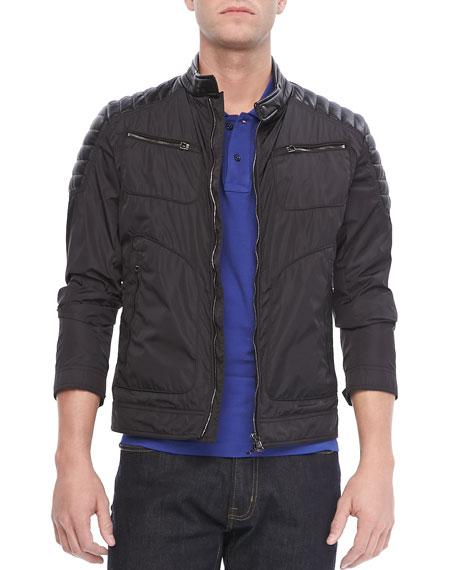 Salomon Nylon Moto Jacket, Black