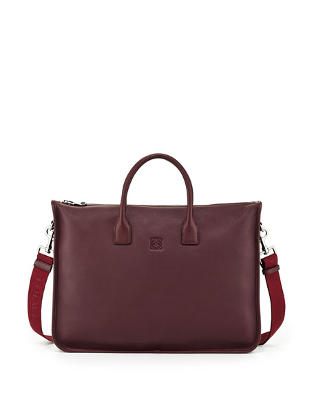 Amazona Zip Briefcase with Strap, Oxblood