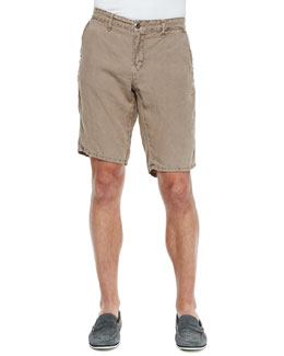 Original Paperbacks Havana Linen Shorts, Smoke