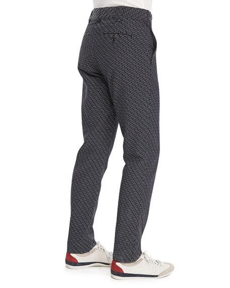 Walker Printed Pants, Navy/White