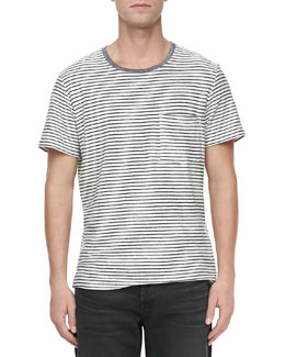 7 For All Mankind Mariner Striped Short-Sleeve Tee, Navy