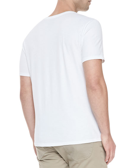 Jersey Crewneck Short-Sleeve T-Shirt, White