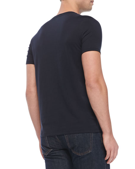V-Neck Jersey T-Shirt, Navy