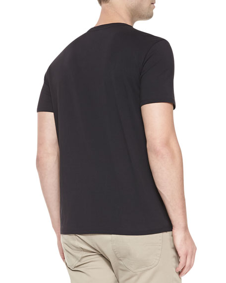 V-Neck Jersey T-Shirt, Black