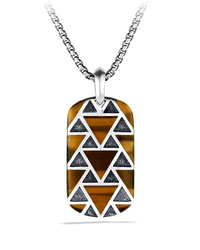 Frontier Tag with Tiger's Eye Necklace