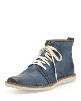 John Varvatos Star USA Barrett Wide Lace Boot, Blue