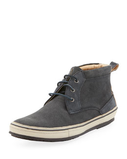 John Varvatos Redding Stamped Suede Chukka, Gray