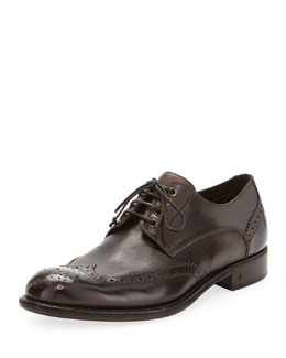 John Varvatos Dress Artisan Wing-Tip, Brown