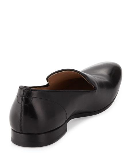 Men's Embossed-Skull Loafer, Black