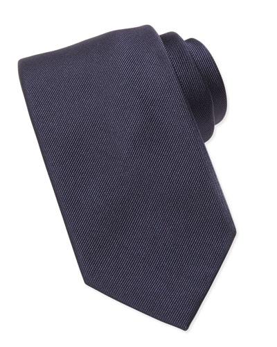 Brioni Silk-Faille Tie, Blue