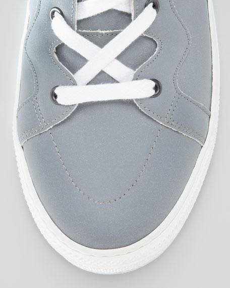 Metallic-Side-Zip High-Top Sneaker