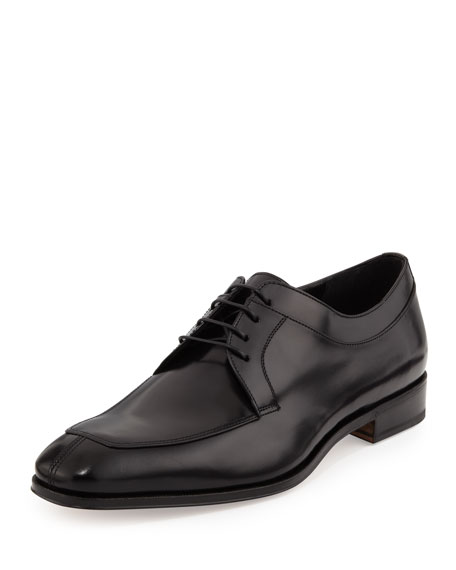 Salvatore Ferragamo Lanier Lace-Up Derby, Black