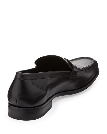 Gancini-Buckle Loafer, Black