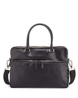 Salvatore Ferragamo Los Angeles Briefcase, Black
