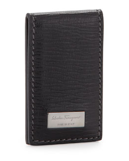 Salvatore Ferragamo Revival Money Clip, Black