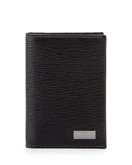 Salvatore Ferragamo Revival Bi-Fold Card Case, Black