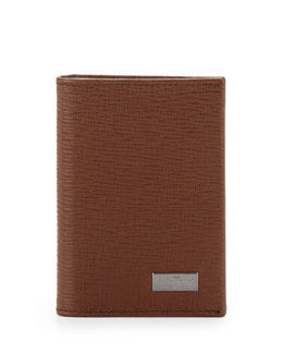Salvatore Ferragamo Revival Bi-Fold Card Case, Tan