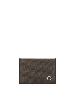 Salvatore Ferragamo New Form Card Case, Brown