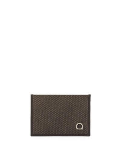 Salvatore Ferragamo New Form Card Case, Brown