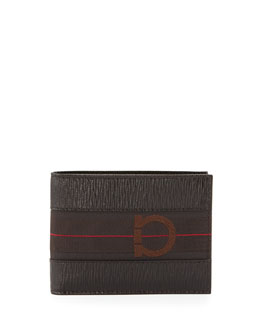 Salvatore Ferragamo Revival II Bi-Fold Wallet, Brown