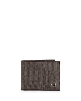 Salvatore Ferragamo New Form Bifold Wallet, Brown