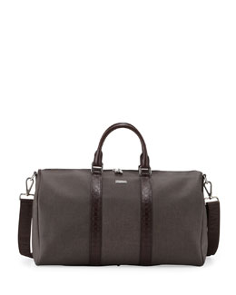 Salvatore Ferragamo New Form Men's Duffel Bag, Brown