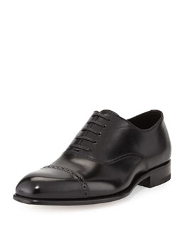 Tom Ford Charles Cap-Toe Oxford, Black