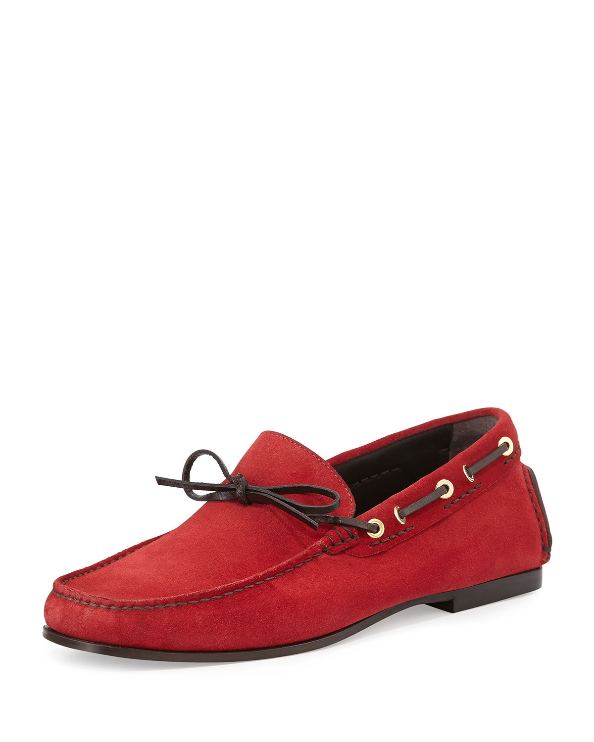 Tom Ford Crawford Suede Driving Loafer, Red