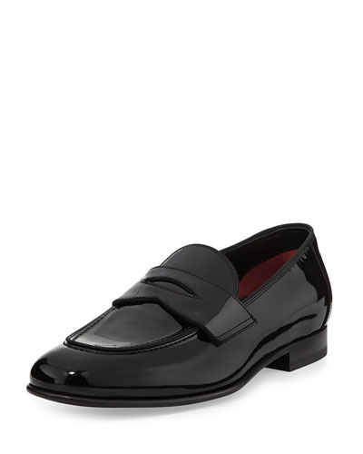Hugh Patent Penny Loafer