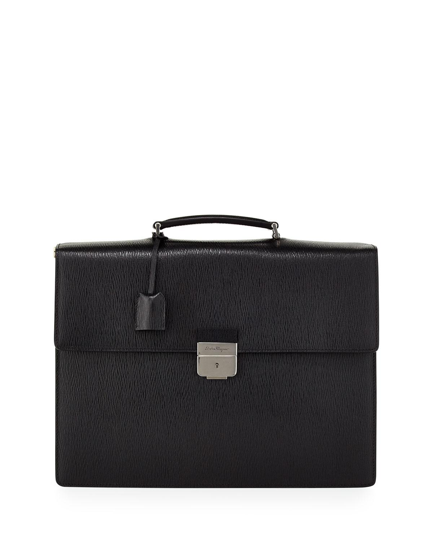 6422a840bf99 Salvatore Ferragamo Revival Gusset Briefcase