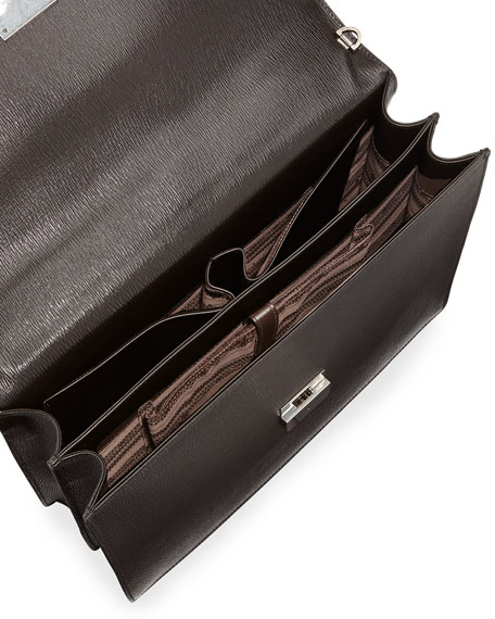 Revival Double-Gusset Briefcase, Light Brown