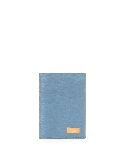Salvatore Ferragamo Revival Card Case, Light Blue