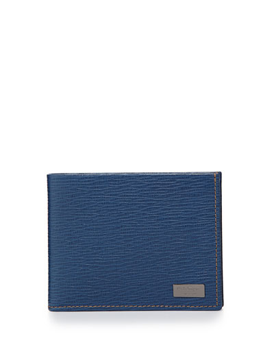Salvatore Ferragamo Revival Bi-Fold Wallet, Light Blue
