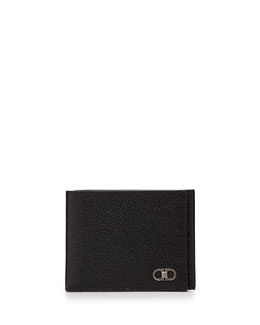 Salvatore Ferragamo Ten Forty One Slim Trifold Wallet, Black