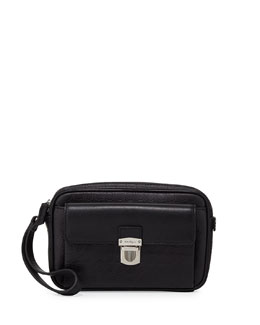 Salvatore Ferragamo Gamma Soft Leather Toiletry Bag, Back
