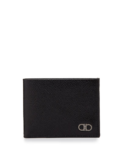 Salvatore Ferragamo Ten Forty One Bi-Fold Wallet, Black