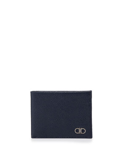 Salvatore Ferragamo Ten Forty One Bi-Fold Wallet, Navy