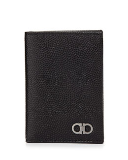 Salvatore Ferragamo Ten Forty One Vertical Card Case, Black