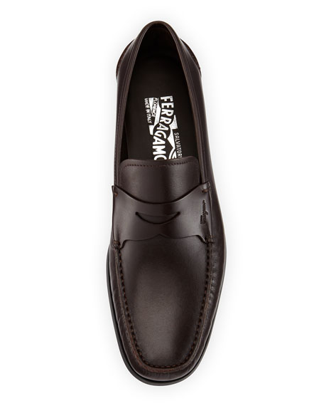 Rubber-Sole Penny Loafer, Brown